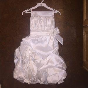 Other - White satin flower girl dress or hold communion